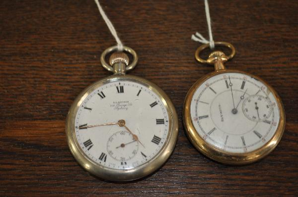 2 x Watches - Pocket Watch Retailed By A.A. Keysor Sydney (Working ... 3d91c4e7b4